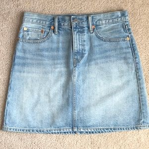 High Waisted Levi Jean Skirt